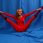 Sexy gymnastics from cute flexible girls in close fit sporty clothes