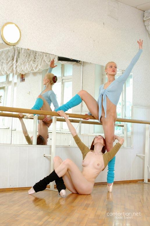 Young ballerinas nude