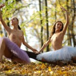 Free nude ballerinas photos with two flexible girls