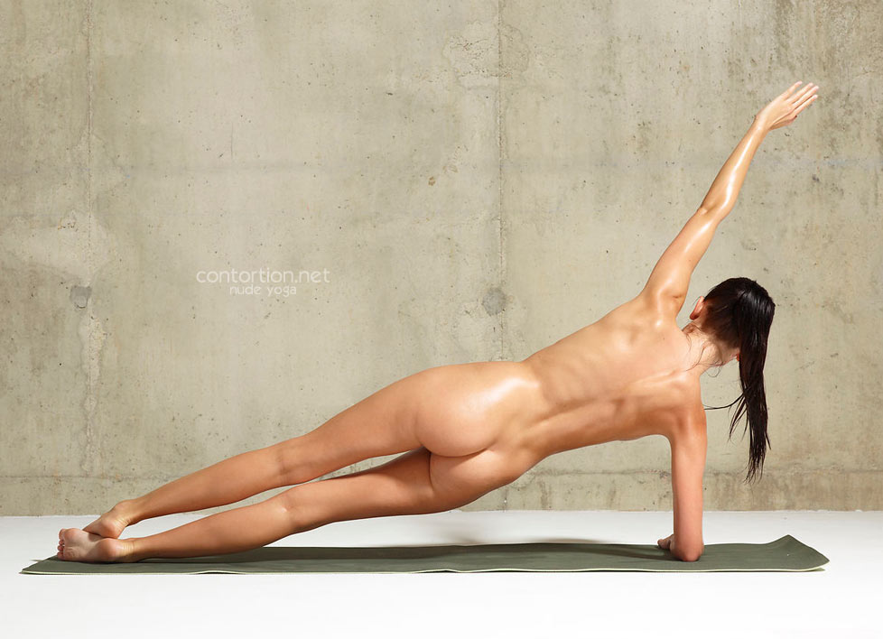 Yoga exercises nude flexible