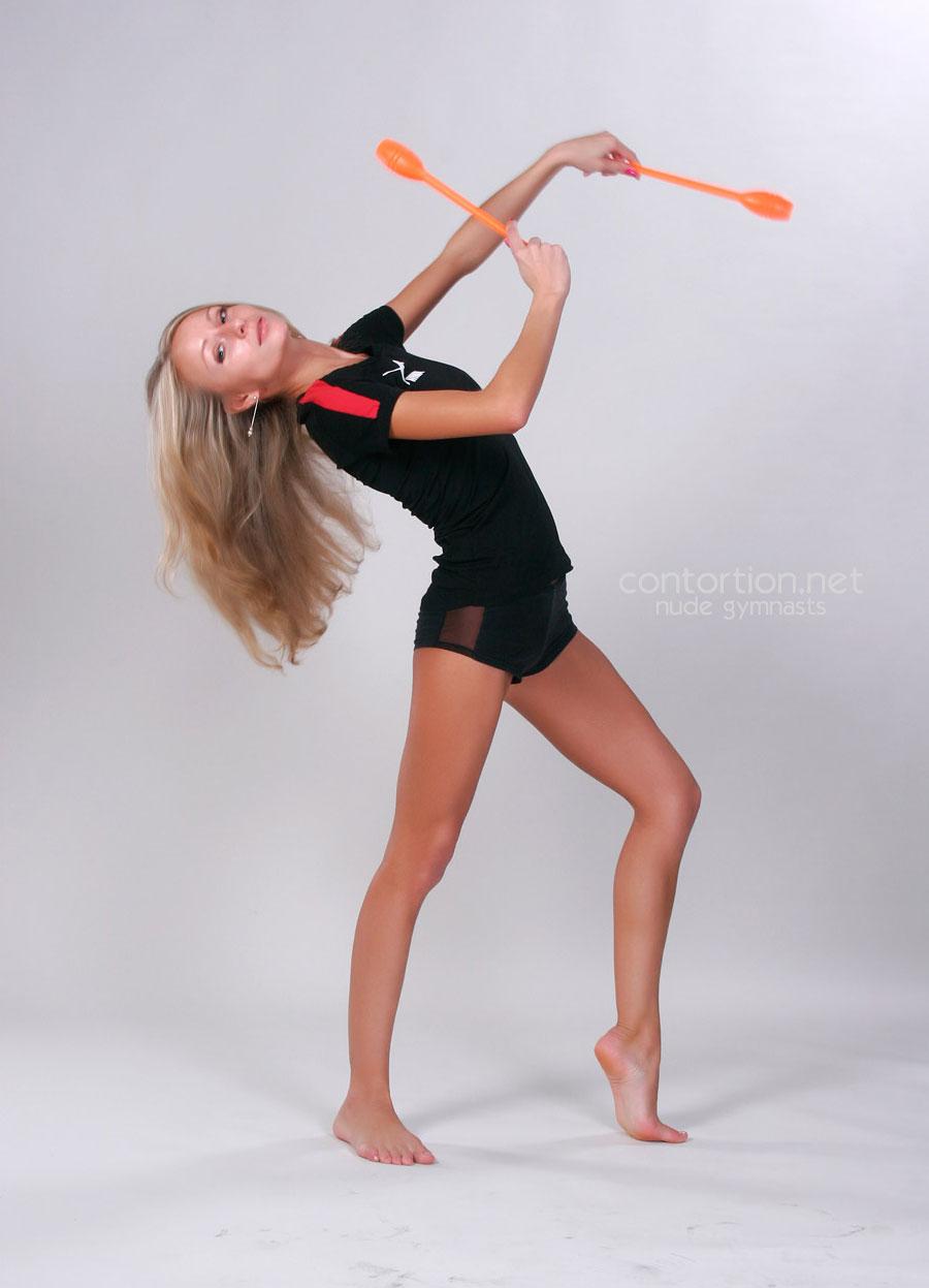 Young sexy gymnast