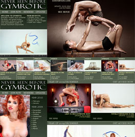 Naked gymnastics and erotic fetish