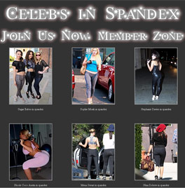 Celebrities in spandex