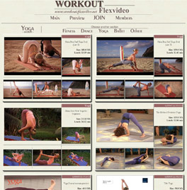 Hot yoga videos, fitness workouts, dance and ballet erotica