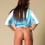 Football girl strips naked