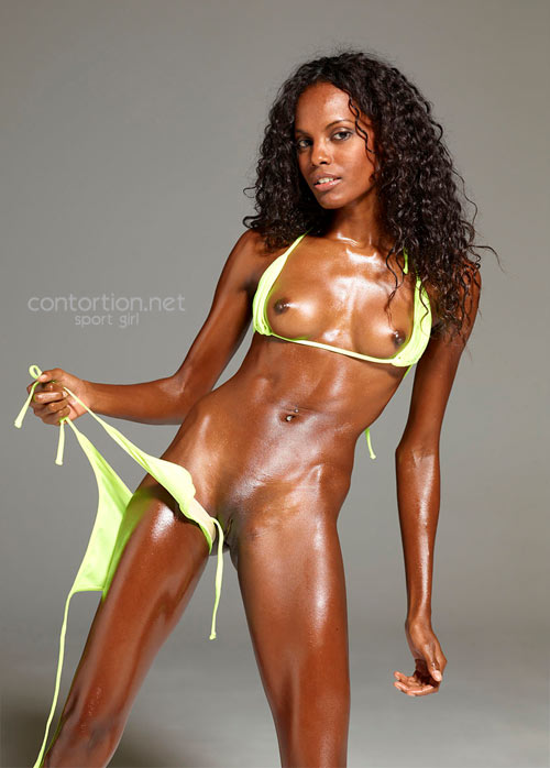 Nude Sporty Girl Oils Perfect Body-8698