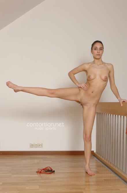 Athletic nude