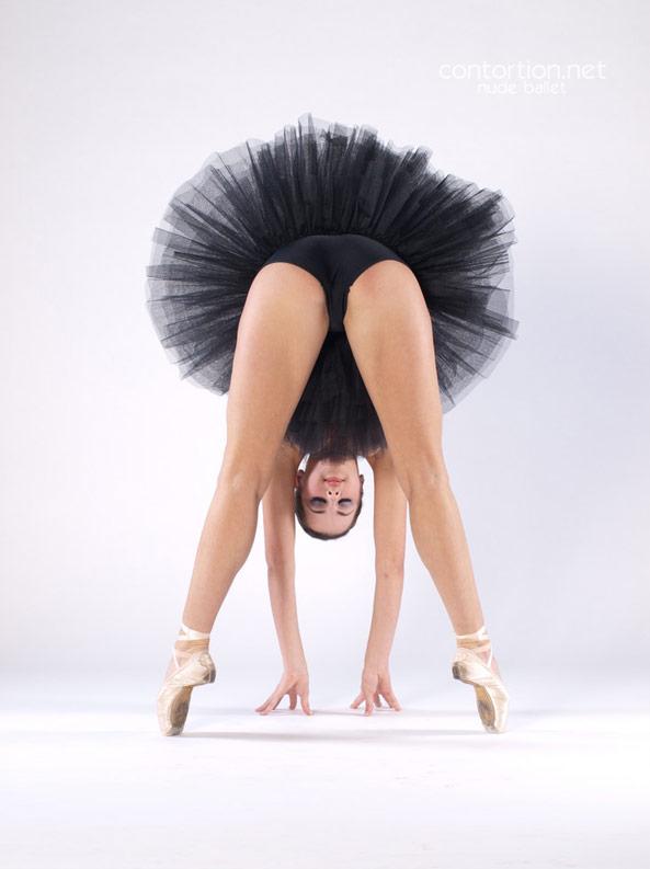 Flexible ballet dancer