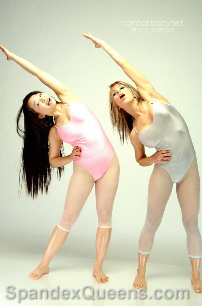 Girls in spandex