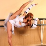 Naked ballet dancer exposes her perfect flexible body