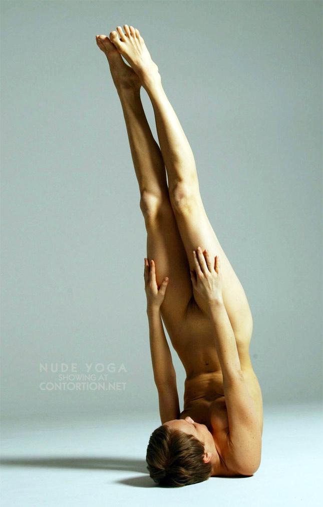 Nude yoga babe