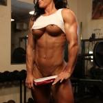 Nude muscular women