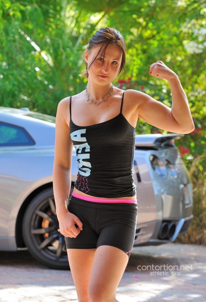 Sexy athlete girl