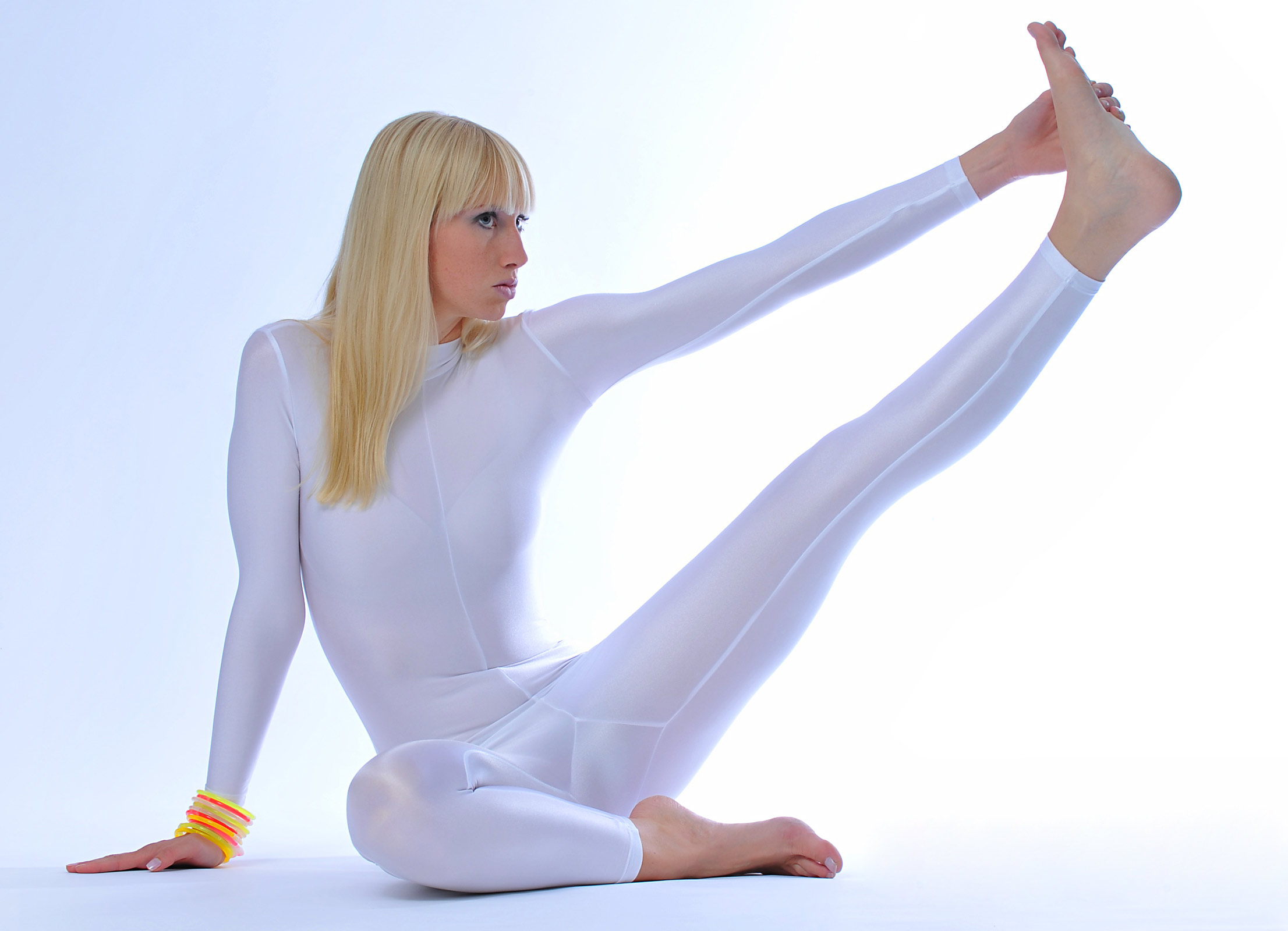 Girl In Spandex Is Doing Sexy Yoga Exercises-3257