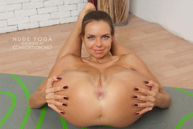 Nude Yoga Girl Doing Different Yoga Exercises-8051
