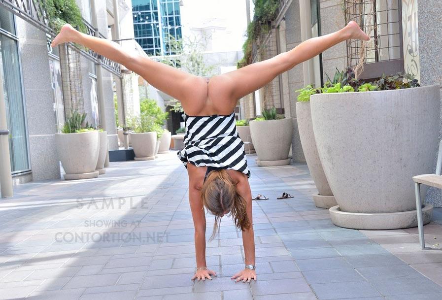 Naked flexible girl