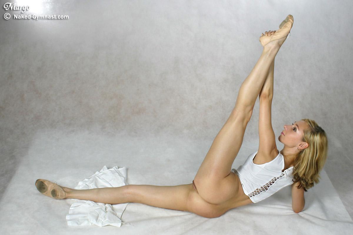 Girls doing gymnastics naked